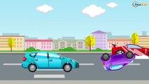 la Voiture de course | Monster Truck, Voiture de police | Dessins animés pour enfants