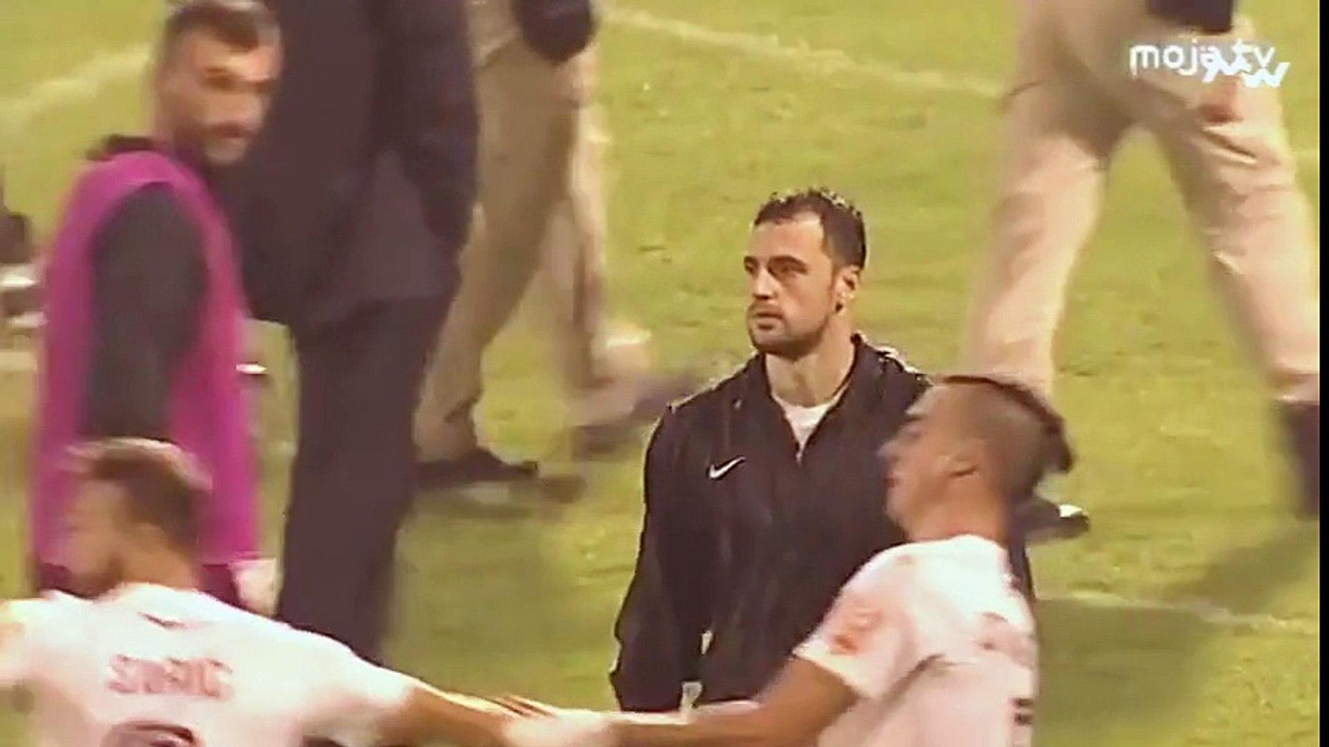 FK Sloboda - FK Sarajevo 1:3 / Varnice na kraju meča