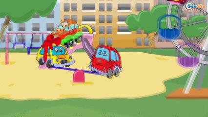 Мультики про Машинки. Экскаватор, Грузовик и Кран - Строительные Машинки - Мультфильмы для детей
