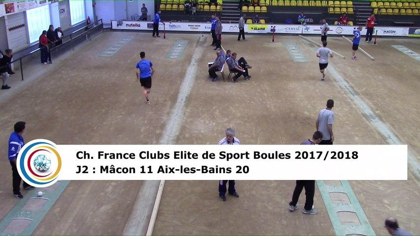 Troisième tour, tir rapide en double, Club Elite Masculin J2, Mâcon vs Aix-les-Bains, octobre 2017