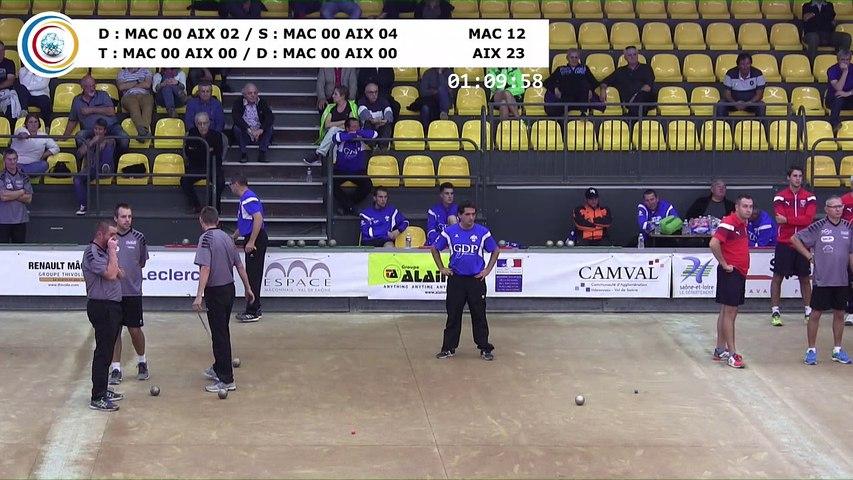 Quatrième tour, Club Elite Masculin J2, Mâcon vs Aix-les-Bains, octobre 2017