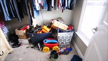 CLEAN WITH ME   SPRING CLEANING BEDROOM: AIDENS NAUTICAL THEME   ORGANIZATION & KONMARI FOLD