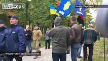 Kiev, just now.  Far-right, and neo-Nazis march to honour WWII Ukrainian Nazi Collaborators