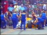 Gran Premio del Messico 1986: Pit stop di Prost, N. Piquet, A. Senna, Johansson e Mansell e ritiro di K. Rosberg