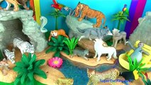 Wild Animals Toy Collection Kids Toys Lions Tigers Cheetahs Wolves Jungle Book 3D Puzzle Fun End
