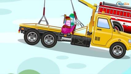 Пожарная Машина и Эвакуатор Мультики про МАШИНКИ Развивающие мультфильмы для детей