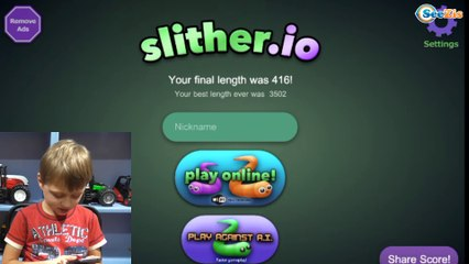 Игра СЛИЗАРИО от Игорька Развлечение для детей Slither.io Funny Games for Children