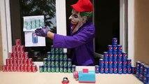 CRAZY COCA COLA PEPSI CHALLENGE! Movie Kids Toys w/ Spiderman, Hulk & Joker Family FUN in Real Life