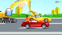 The Blue Police Car and Racing cars - The Big Race in the City of Cars Cartoons for Children