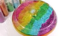 1000 Degree Ball VS Combine Glitter Slime Clay Learn Colors Slime Icecream DIY