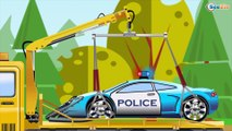 The Yellow Tow Truck | Car Service & Car Wash | Service & Emergency Vehicles Cartoons for children
