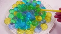 DIY How to Make Orbeez Colors Soft Jelly Balls Learn Colors Slime Combine Icecream Sand