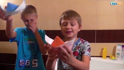 BAD BABY Игорек и Богдан ПЕРЕВОРОТ в ВАННОЙ Children Fun Freaks Детские ШАЛОСТИ