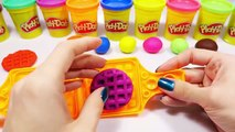 Rainbow Play Doh Waffles DIY Learn Colors with Playdough Waffles