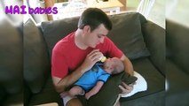 Funny Dad Taking Care Of Baby Videos - Cute Daddy And Babies Moments Compilation