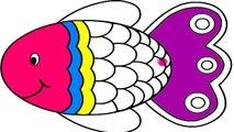 Renkleri Ogreniyorum Balik Boyama Sayfasi Oyun Hamuru Evi