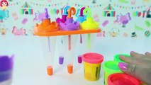 Paletas Arcoiris de Plastilina Playdoh|Rainbow Umbrella Play Doh Popsicles