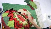 Almofada em patchwork da Flor - Maria Adna Ateliê - Cursos e aulas de patchwork - Almofadas