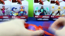 Disney Big Hero 6 Charer Unboxing Hiro, Baymax, Go Go Tomago, Wasabi No Ginger, Yokai