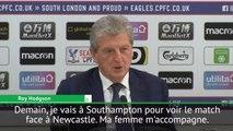 Crystal Palace - Hodgson : ''Ma femme ne pourra pas dire que je ne sors jamais en sa compagnie''