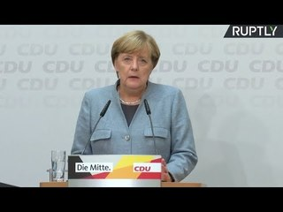 LIVE: Merkel speaks to press day after German federal election