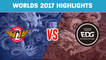 Highlights: SKT vs EDG - Worlds 2017 Group Stage