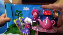 Свинка Пеппа коляска и качелька и открываем игрушки из сказки кормим куклу Peppa Pig unboxing toys