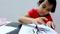 Finger painting for Kids, Kids Art - Thumb Painting Tutorial for Kids under five