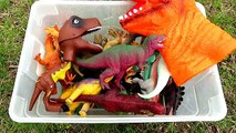 Box Of Toys Dinosaurs Jurassic Park Dinosaur Collection Fun Kindergarten Fun Kids Educational Video