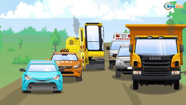 The Yellow Tow Truck helps Cars | Service & Emergency Vehicles Cartoons for children