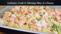 Lobster, Crab and Shrimp Baked Macaroni and Cheese Recipe |Cooking With Carolyn