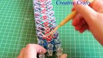 Tutorial como hacer una pulsera de gomitas LIBERTY TWIST. Rainbow Loom Liberty Twist Bracelet.