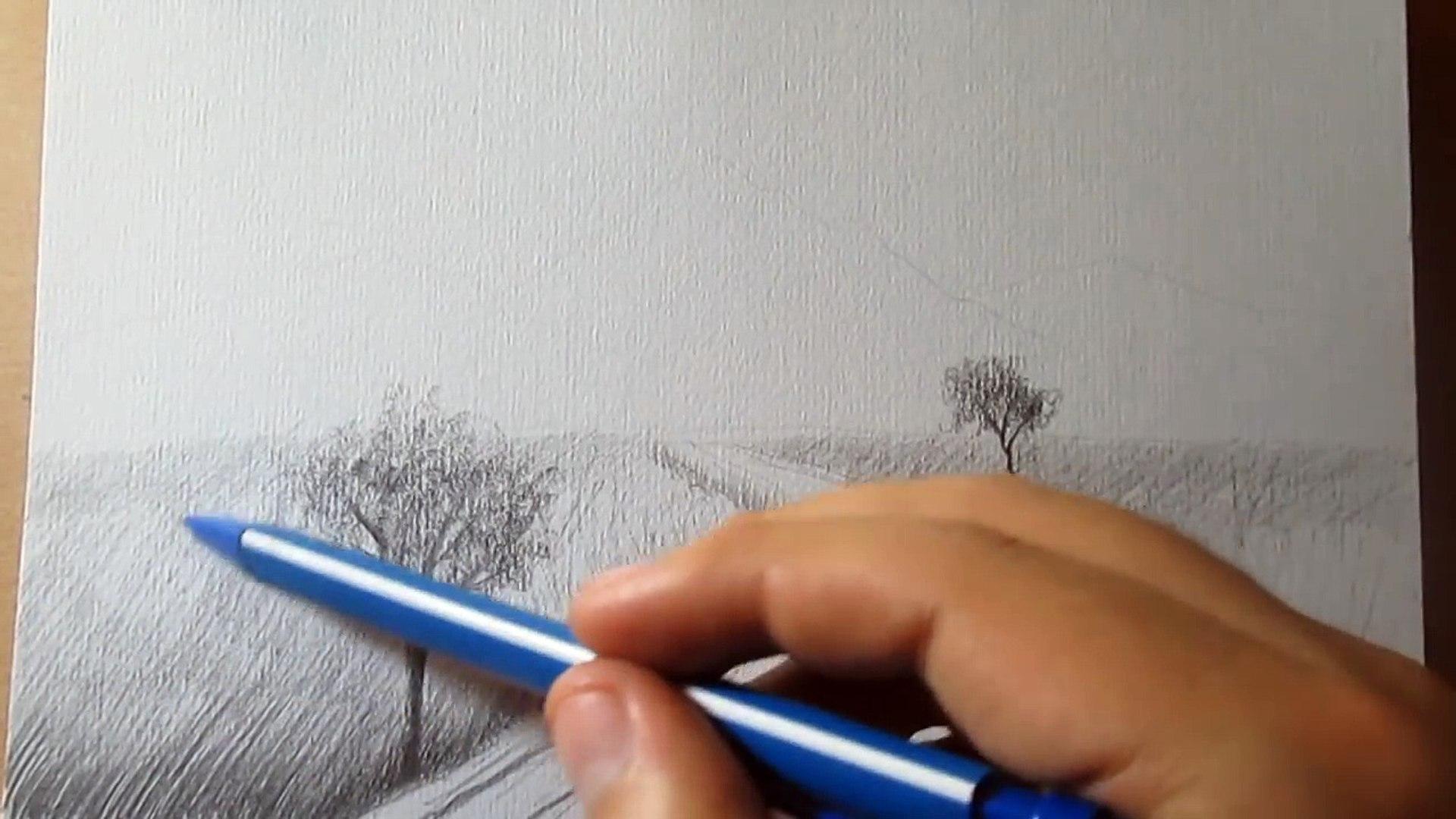 Cómo Dibujar Un Paisaje Muy Fácil A Lápiz Paso A Paso 影片 Dailymotion