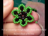 Easy Beaded Flower Ring Beading Tutorial by HoneyBeads1 (Photo tutorial with twin beads)