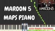 Maroon 5 - Maps Piano Tutorial Easy + Cover with Lyrics | Synthesia Piano Tutorial.