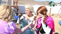 Frozen Elsa Hair Trouble! Spiderman Cuts annas hair Tangled! Funny superhero compilation parody!