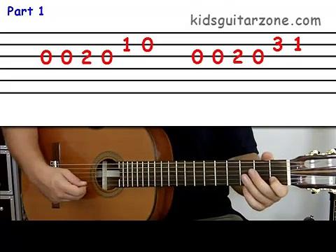 Guitar lesson 4A : Beginner — Happy Birthday on three strings