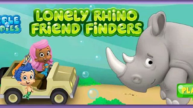 Bubble Guppies Lonely Rhino Friend Finders-Dora Games