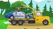El Pequeño Tractor y el Camión infantiles - Dibujo animado de coches | La zona de construcción