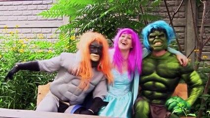 Spiderman, Frozen Elsa, Maleficent, Catwoman, Anna! Elsa hypnotized as baby :)