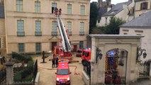 Exercice des pompiers à l'hôtel de Limur