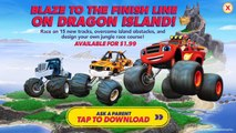 Blaze and the Monster Machines - Racing Game | Unlock DRAGON ISLAND Map w/ Stripes By Nickelodeon