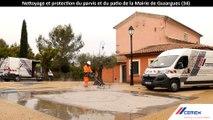 ENTRETIEN & RÉNOVATION : 500 M2 DE BÉTONS NETTOYÉS SANS PRODUIT CHIMIQUE ET PROTÉGÉS EN 8 H !