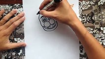 Como dibujar a old freddy de five nights at freddys | how to draw old freddy