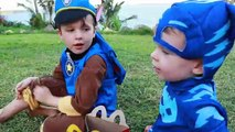 PAW PATROL Nickelodeon Assistant CATBOY Searches For Marshal Chase Pups Eat McDonalds PJ Masks