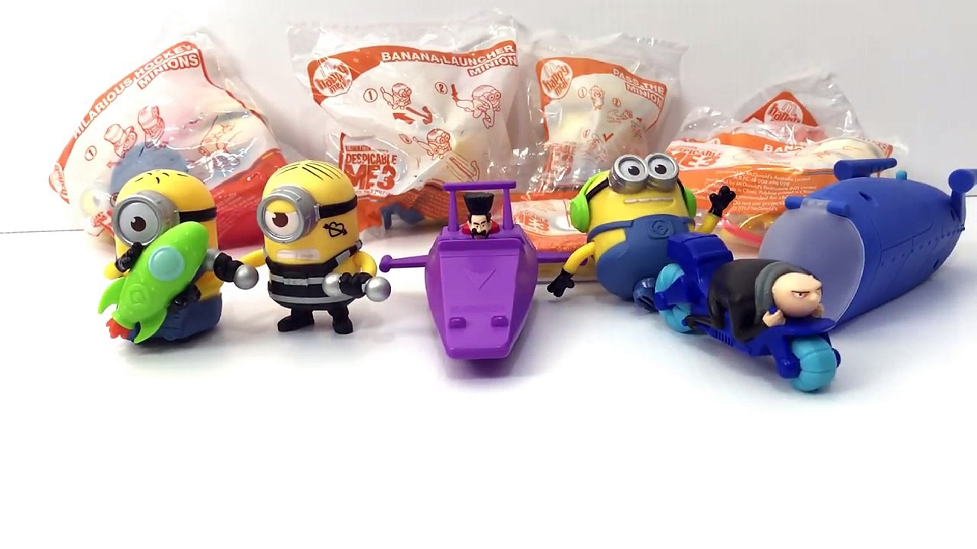2017 MCDONALDS USA SET OF 12 DESPICABLE ME 3 HAPPY MEAL MINIONS MOVIE TOYS UNBOXING & REVIEW