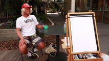 We Had a Caricature Artist Draw a Bunch of Pro Surfers at the US Open of Surfing
