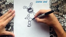 Como dibujar a mini springtrap | how to draw plush trap | five nights at freddys 4