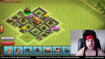 Clash of Clans Town Hall 4 Defense (CoC TH4) BEST Trophy War Base Layout Strategy & Troll Replays #1