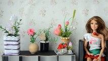 Como fazer vaso de flores para Barbie e outras bonecas